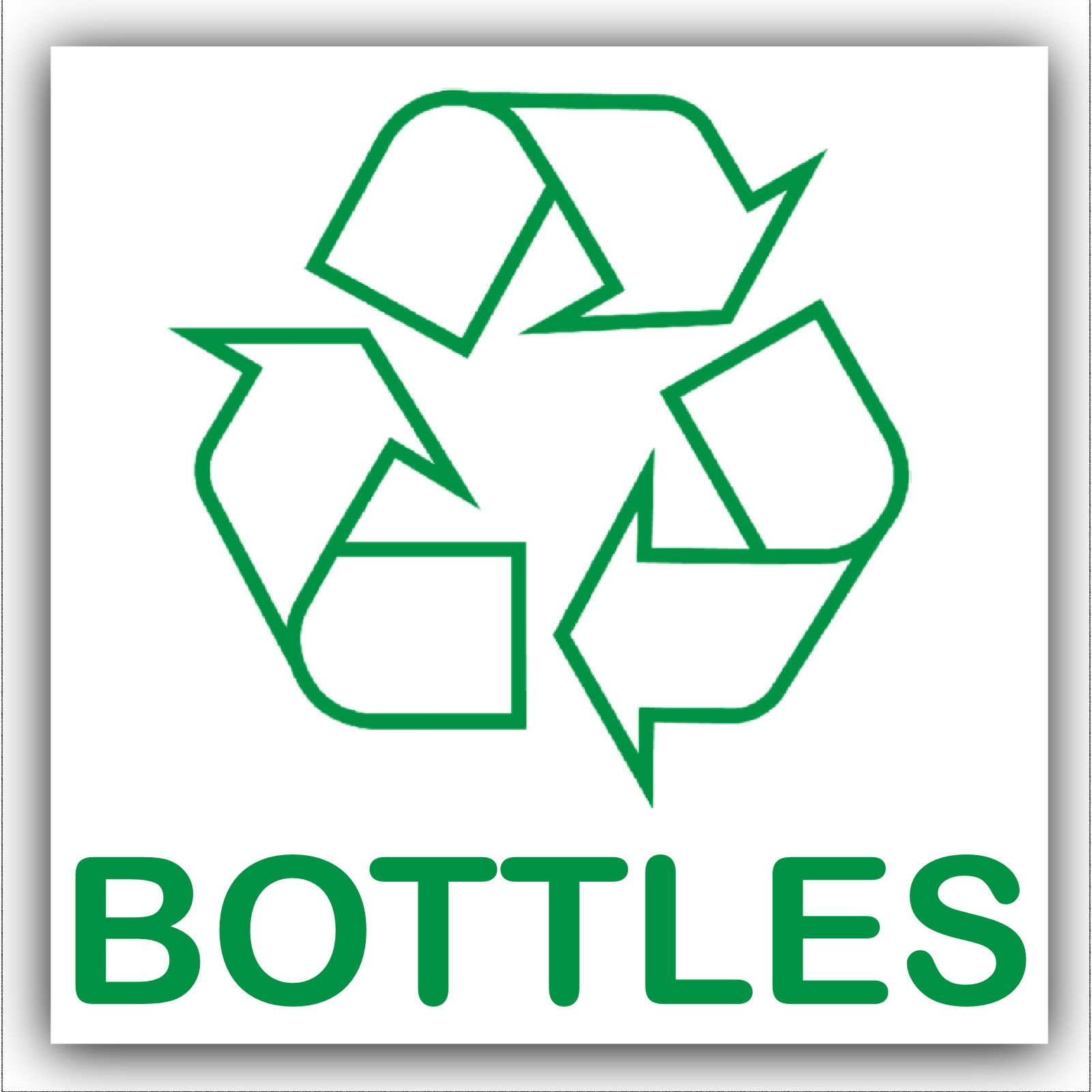 Recycling Stickers-Paper,Plastic,Cans,Bottles,Ink Cartridge,Glass,Bin,Logo Signs
