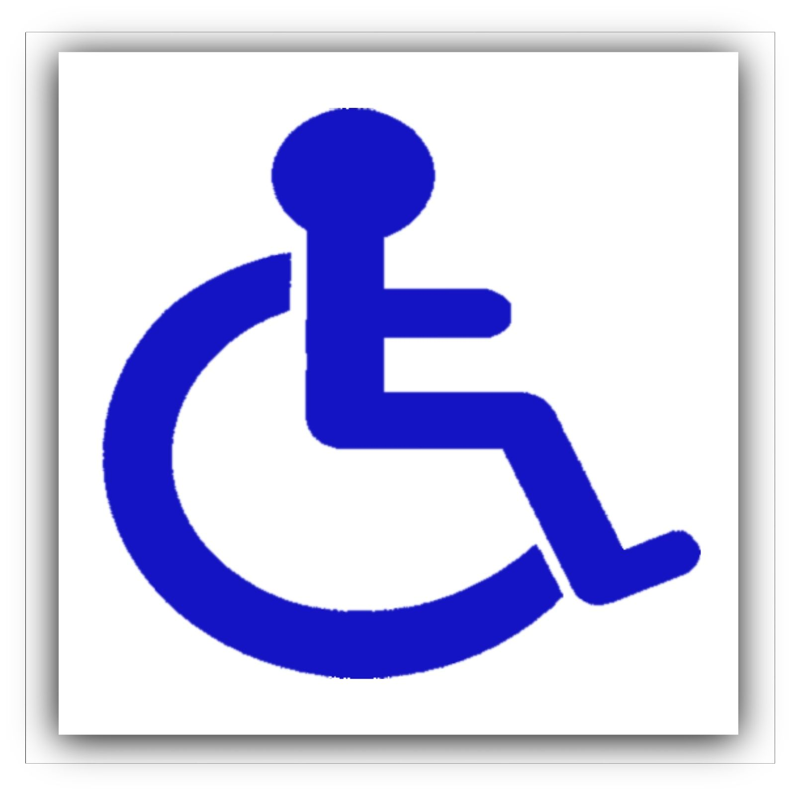 1 x disabled logo sticker disability wheelchair sign mobility rh shop4stickers co uk disable logon password disable logon trigger