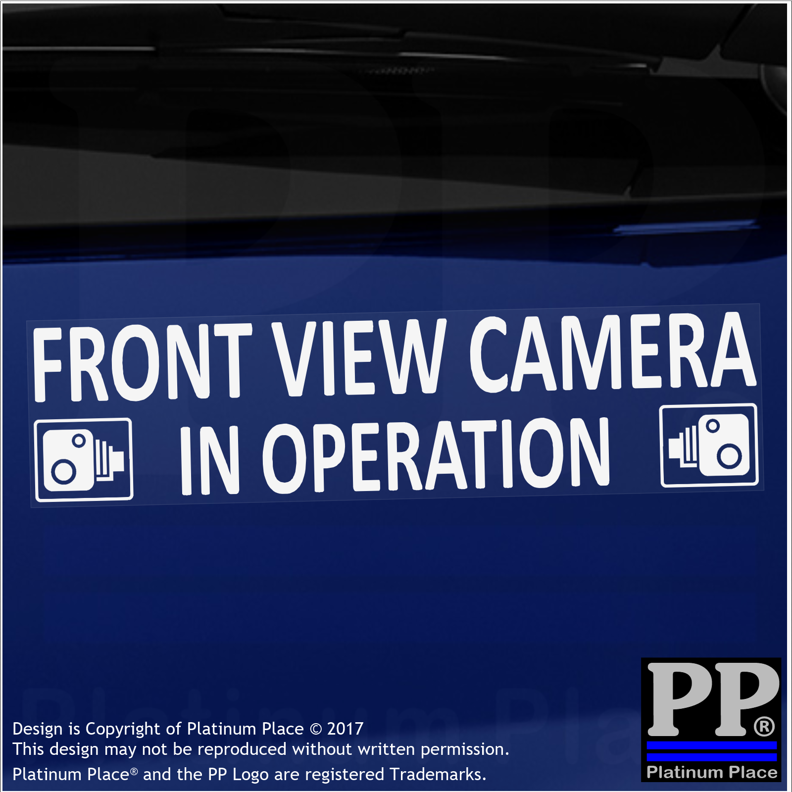 1 x Front View Camera In Operation Stickers-EXTERNAL CCTV