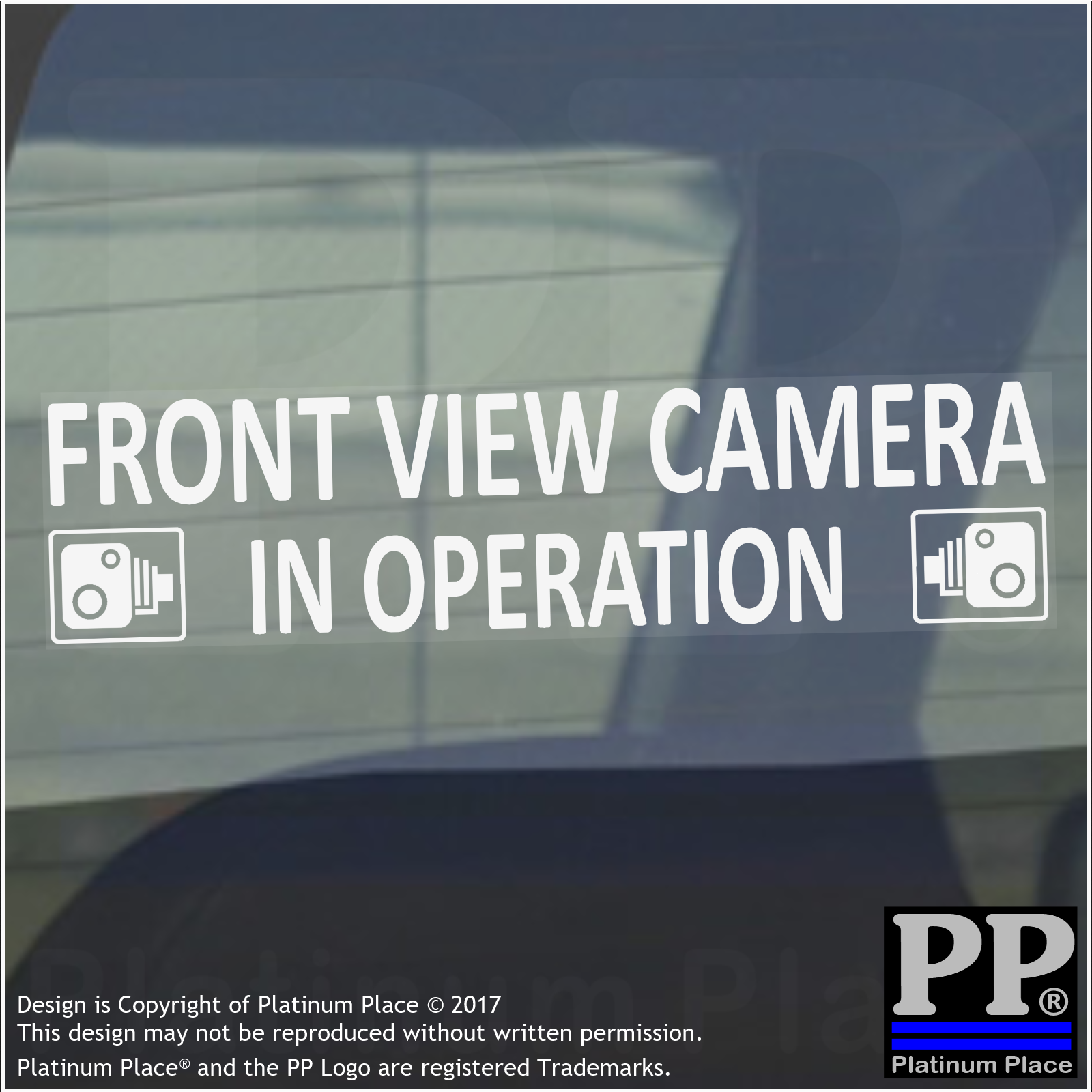 1 x Front View Camera In Operation Stickers-WINDOW CCTV Signs-Van