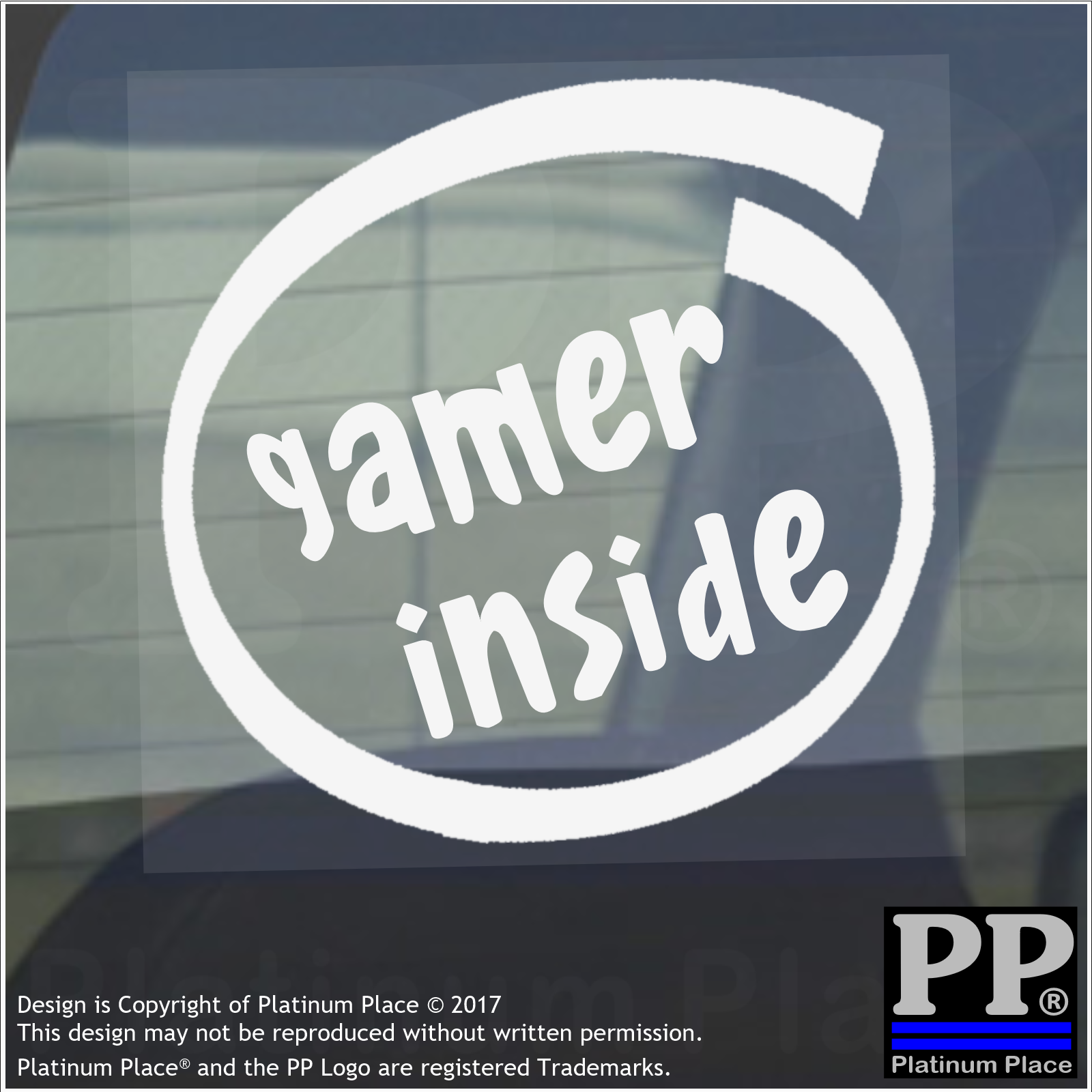 1 x gamer inside windowcarvanstickersignvehiclexboxps4gaming pcmacrpg