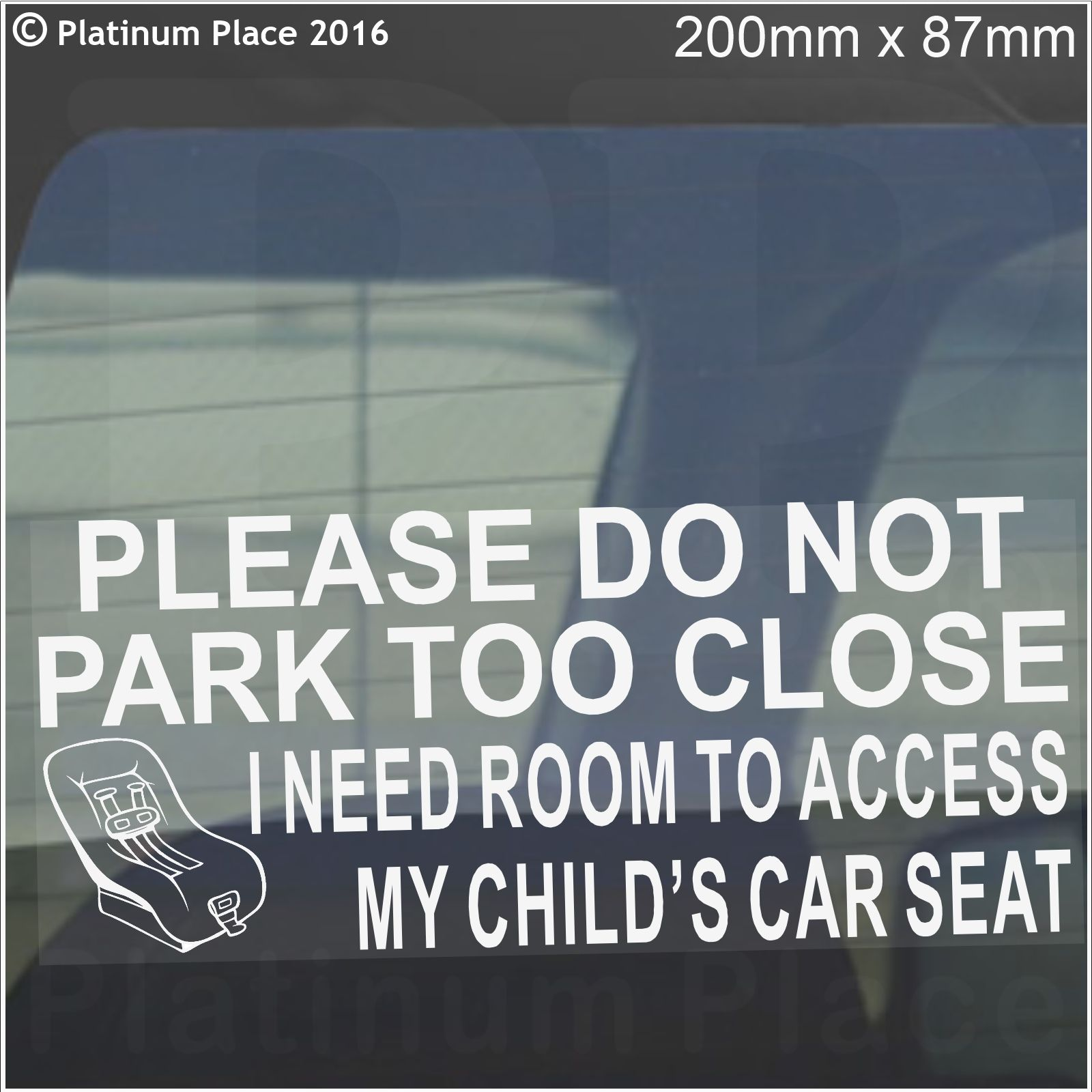 1 X I Need Room To Access My Child S Car Seat Please Do
