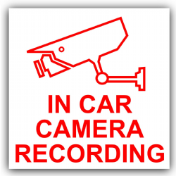 Platinum Place 1 x EXTERNAL Sticker-CCTV Video Passed to Police for Accident and Safety Purposes-Red on White-Security Warning-200mm x 87mm-CCTV Sign-Van,Lorry,Truck,Taxi,Bus,Mini Cab,Minicab