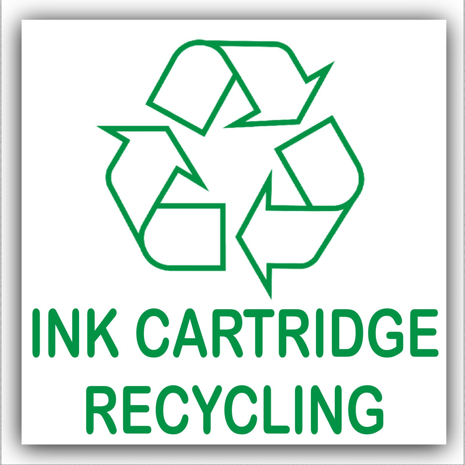 1 X Ink Cartridge Recycling Bin Adhesive Sticker Recycle