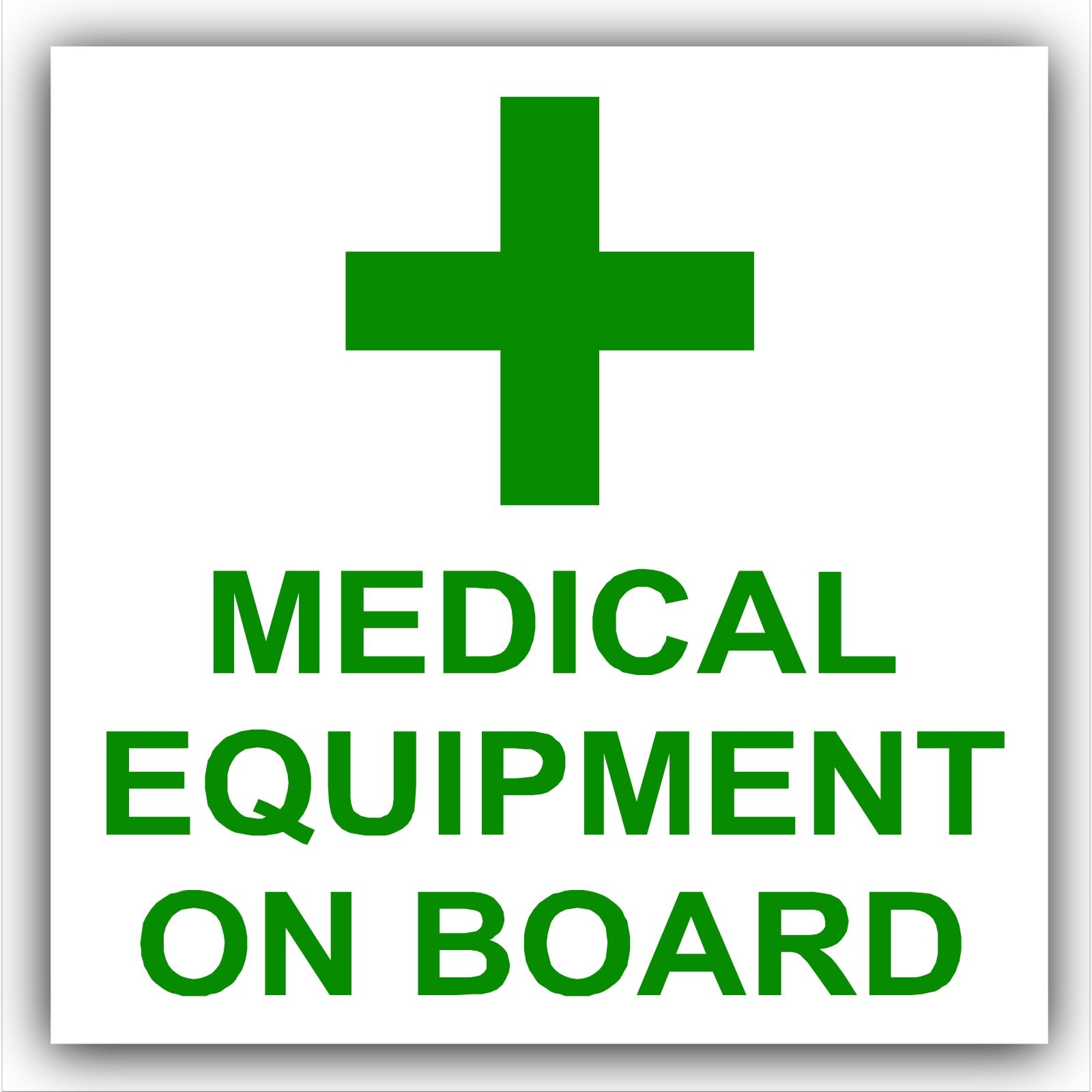 1 x medical equipment on board first aid design self adhesive vinyl 1 x medical equipment on board first aid design self adhesive vinyl sticker carvanbustaxicabminilogo sign biocorpaavc Choice Image