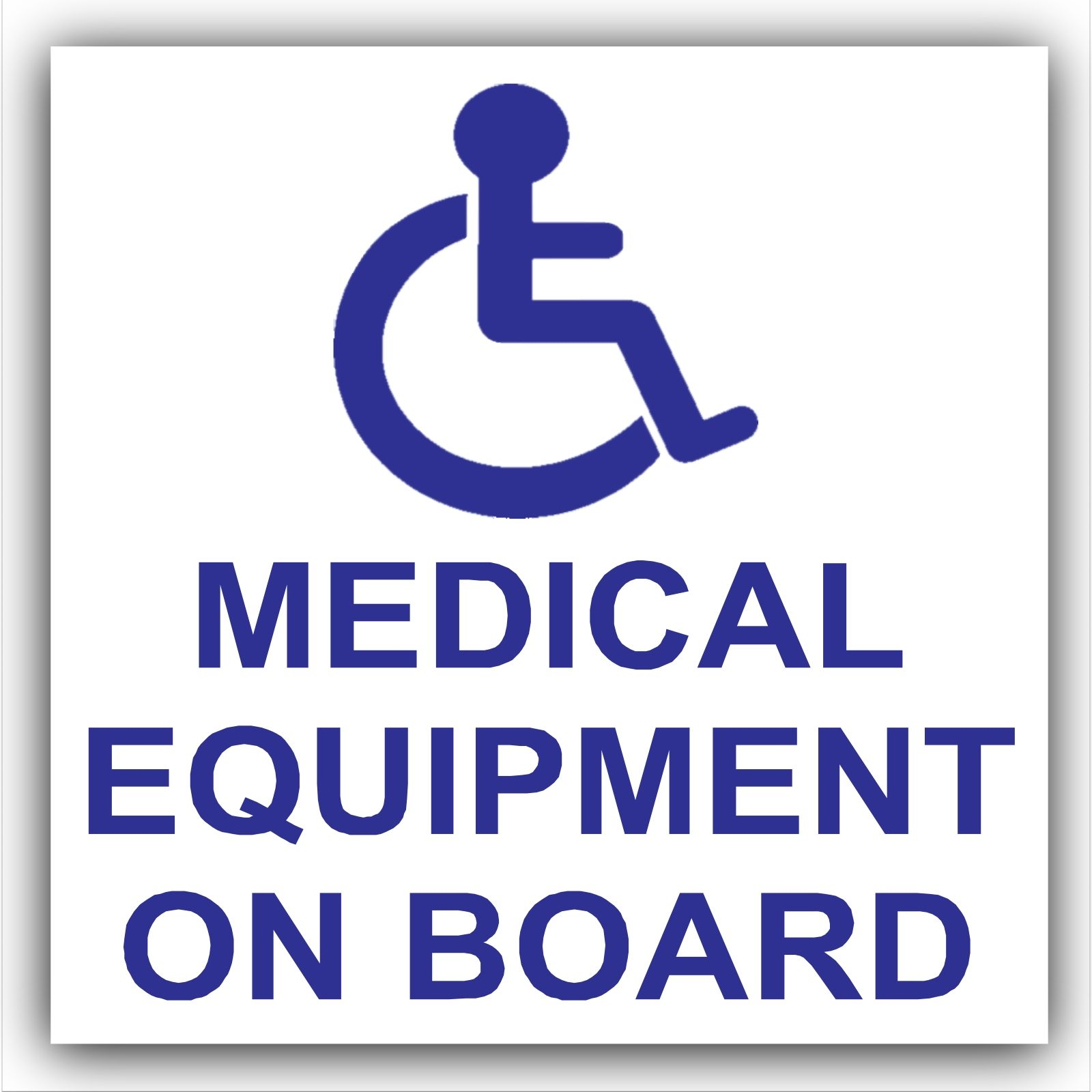 1 x Medical Equipment On Board-Self Adhesive Vinyl Sticker
