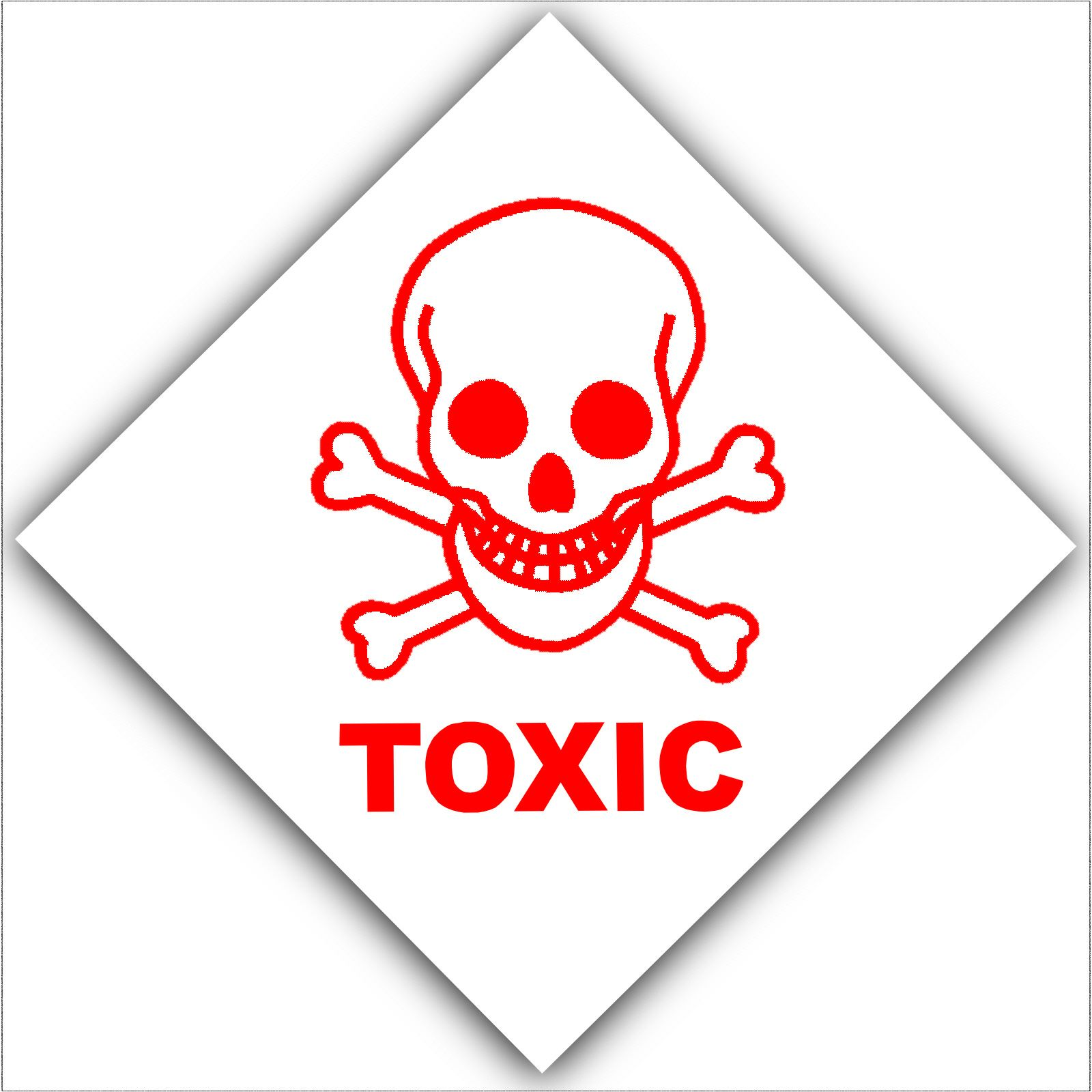 1 x toxic health and safety self adhesive vinyl sticker warning 1 x toxic health and safety self adhesive vinyl sticker warning danger hazard symbol sign biocorpaavc Images