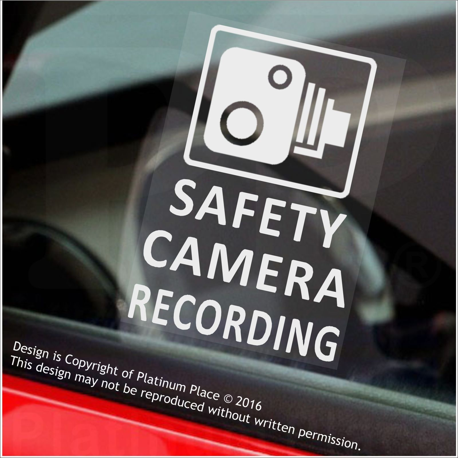 4 x safety camera recording 60x87mm window stickers vehicle security warning dash cam signs cctv. Black Bedroom Furniture Sets. Home Design Ideas