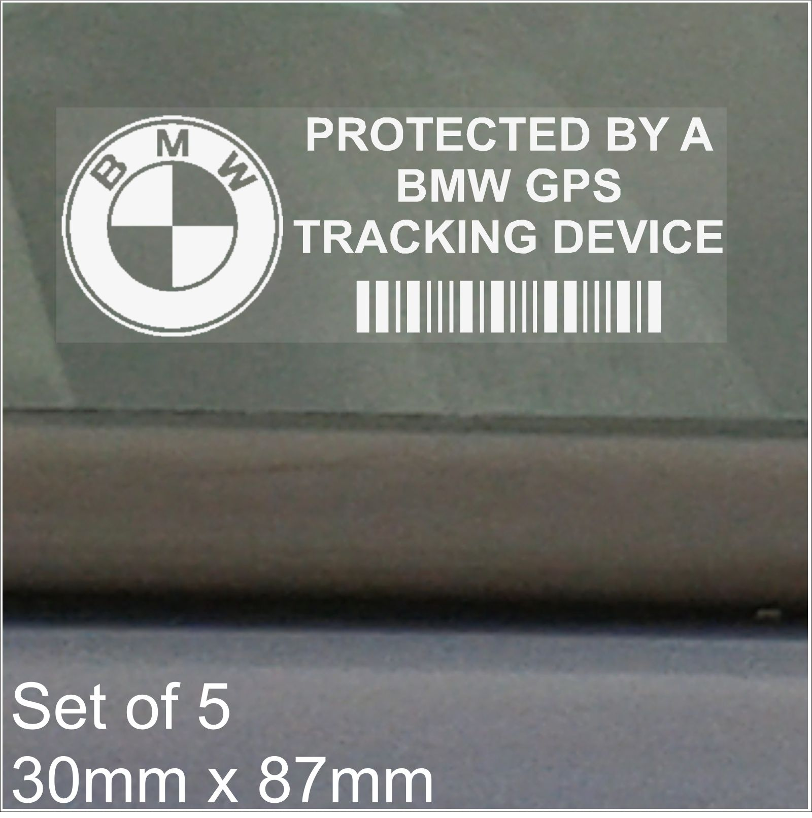 Gps Car Tracker >> 5 x BMW GPS Tracking Device Security WINDOW Stickers-87x30mm-3 4 5 6 7 E M F G Series Car Van ...