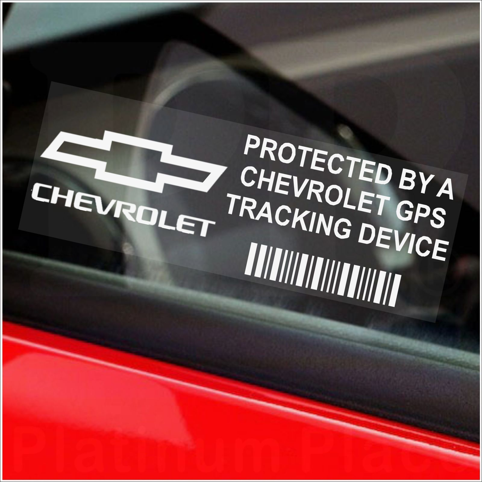Vehicle Tracking Device >> 5 x Chevrolet GPS Tracking Device Security Stickers-Camaro Car Alarm Tracker