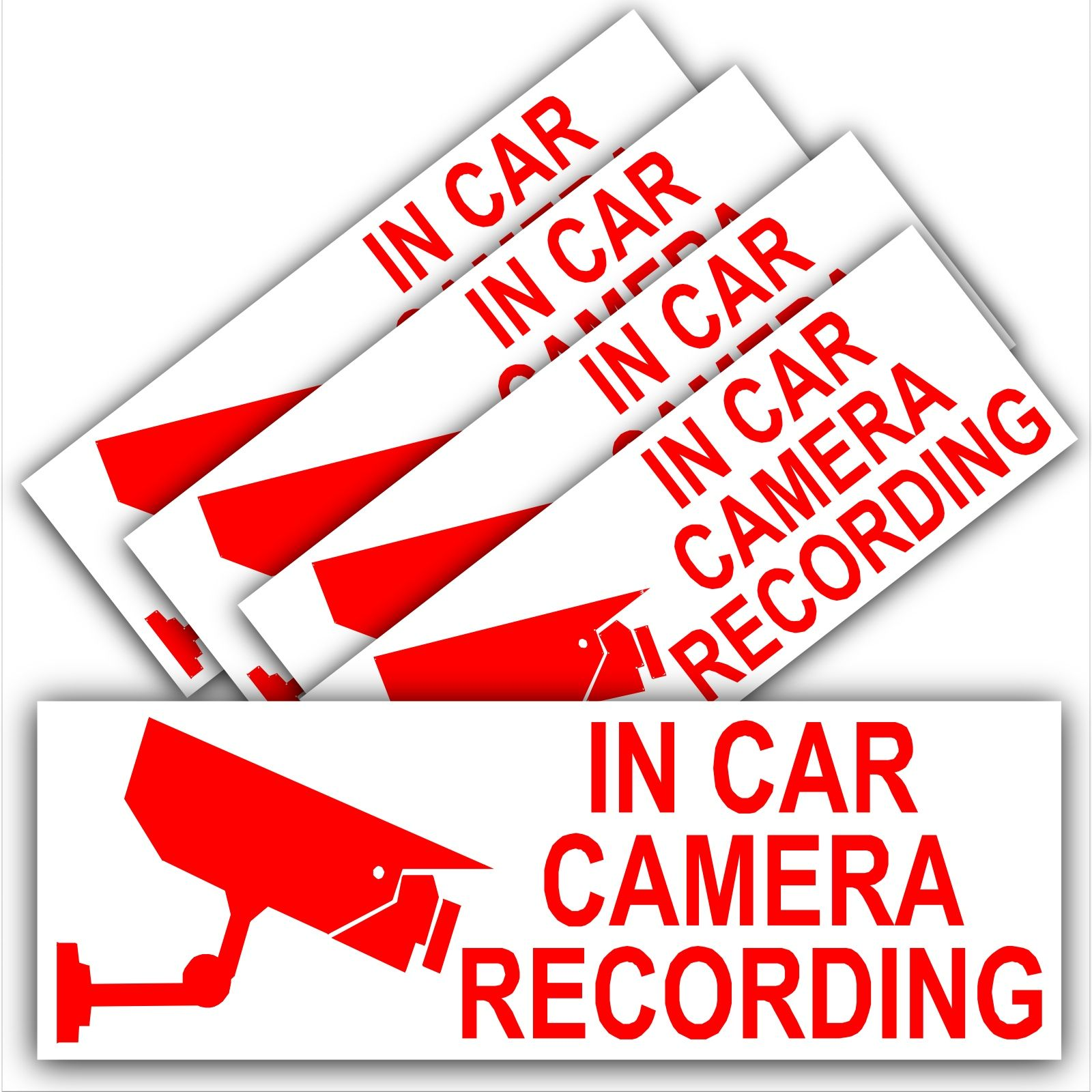 Platinum Place 1 x Warning SAFETY CAMERA Recording WINDOW Stickers-Vehicle Security Dash Cam Signs-CCTV,Car,Van,Truck,Taxi,Mini Cab,Bus,Coach,Go Pro 200mm