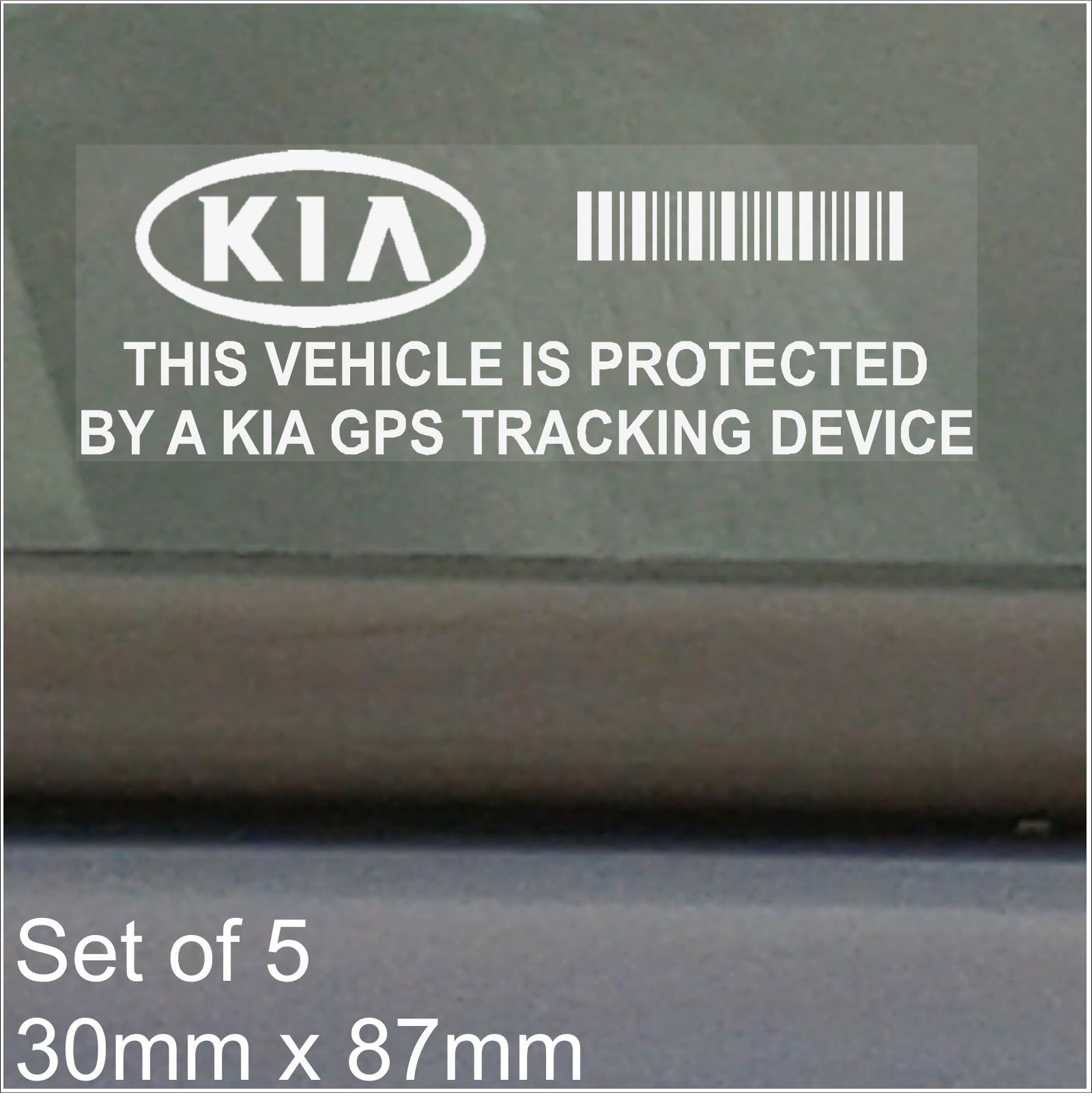 5 x Land Rover GPS Tracking Device Security BLACK Stickers-Car Alarm Tracker