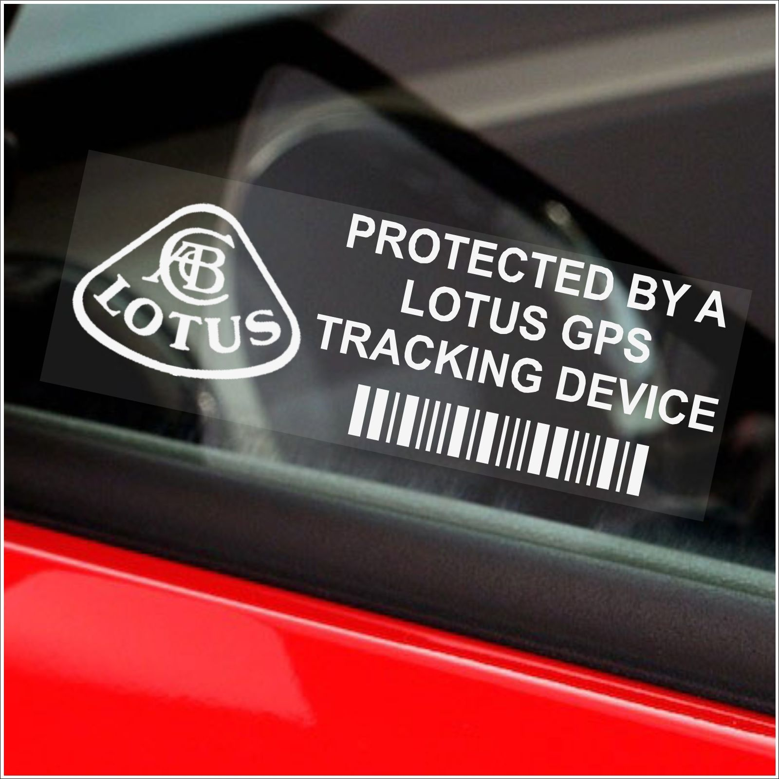 d630cb065d 5 x LOTUS GPS Tracking Device Security WINDOW Stickers-87x30mm-Elise ...