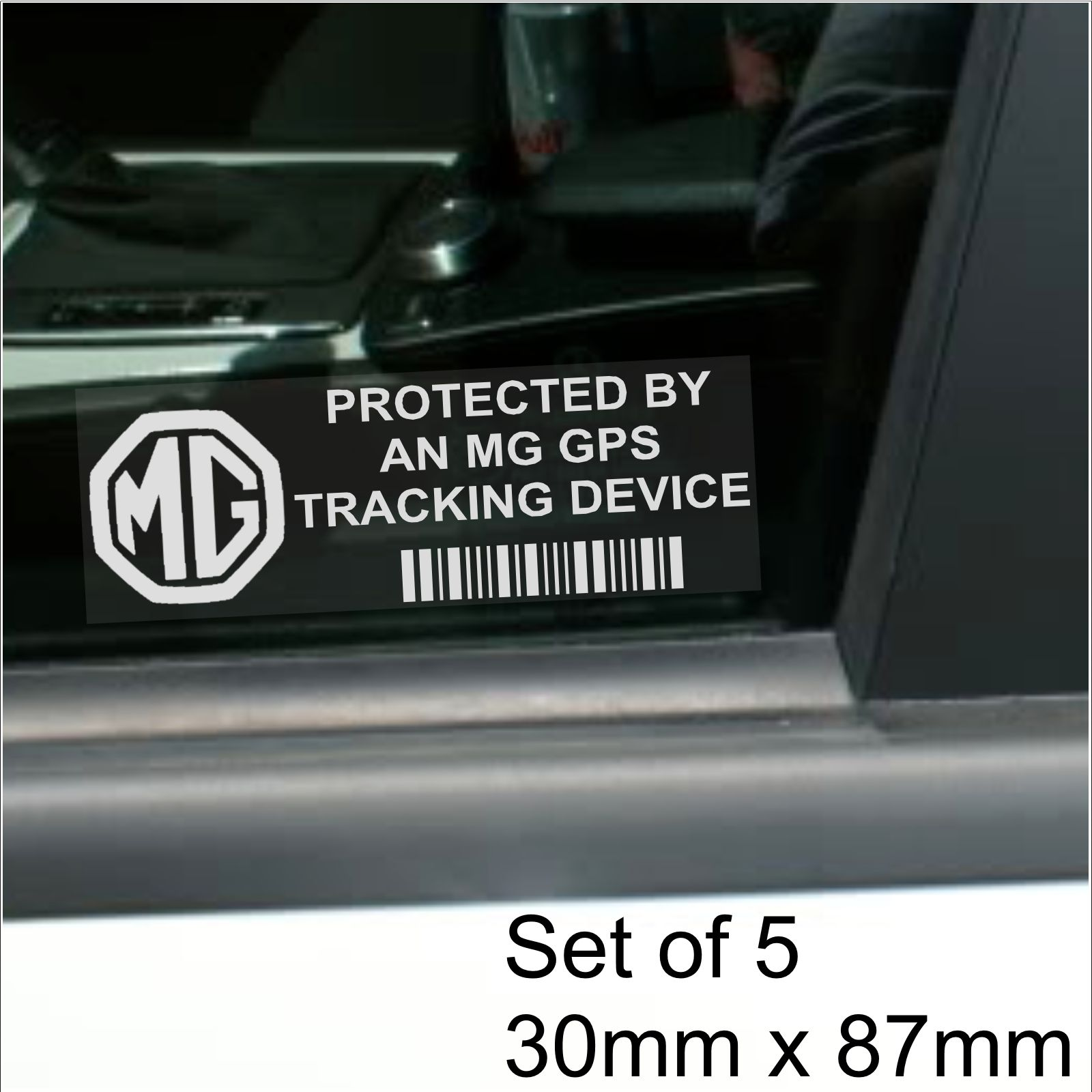 b7b5ef1418 5 x MG GPS Tracking Device Security WINDOW Stickers-87x30mm-Car Van ...