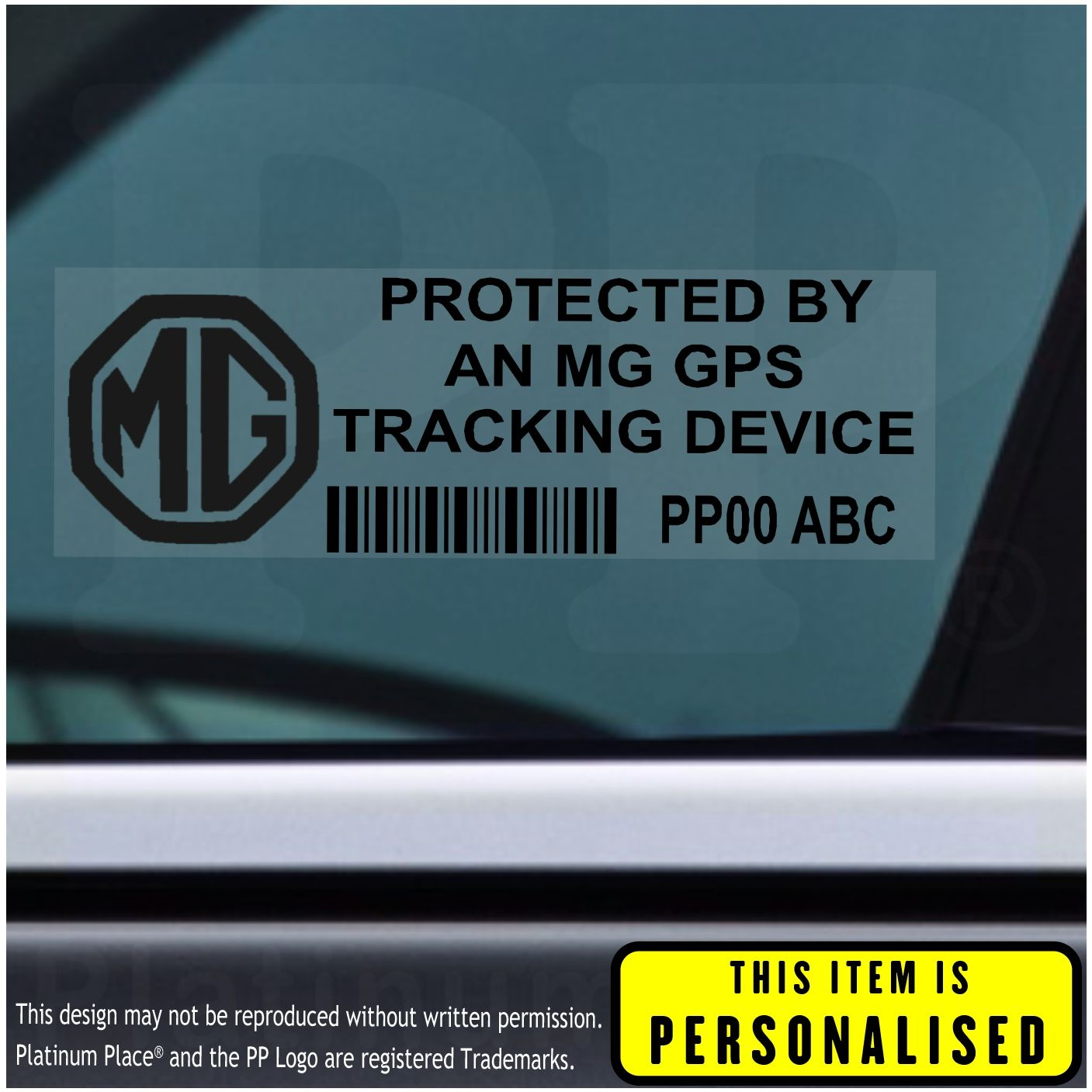 c26a026004 5 x MG GPS Tracking Device Security WINDOW Stickers-87x30mm-Car Van Alarm  Tracker