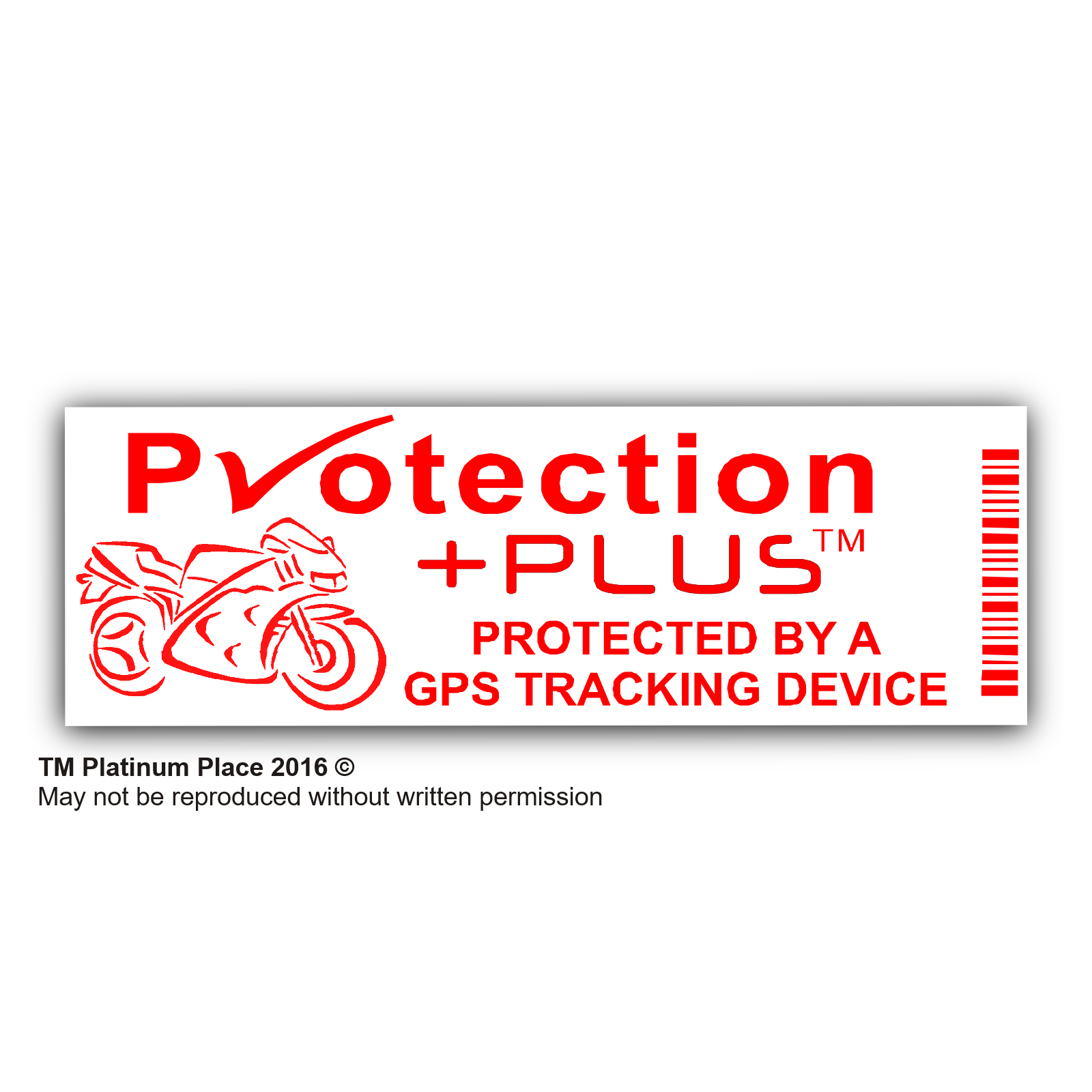 5 x motorbike security stickers gps tracker device motorcycle warning tracking signs
