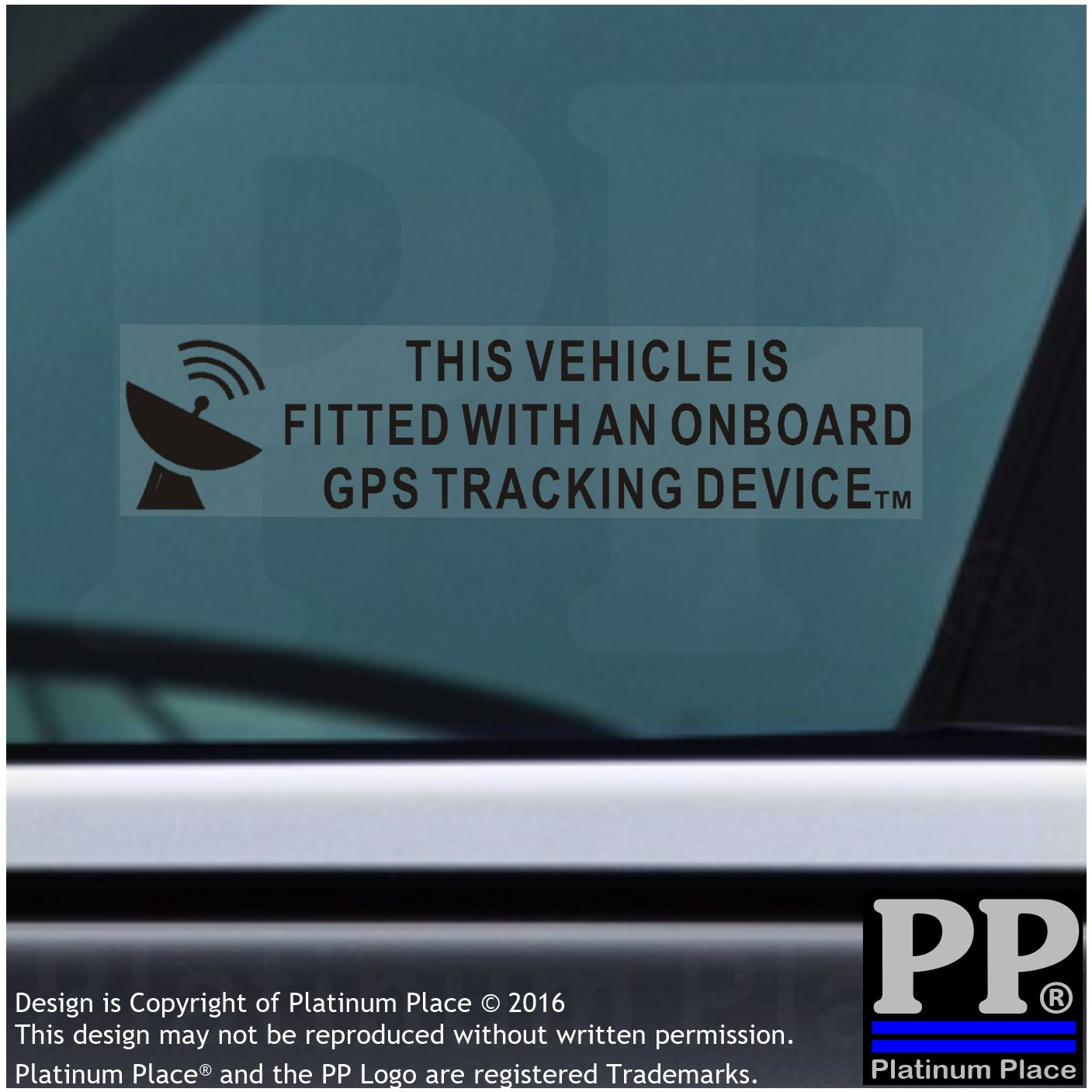 5 X On Board Gps Tracking Device Fitted Stickers Car Van