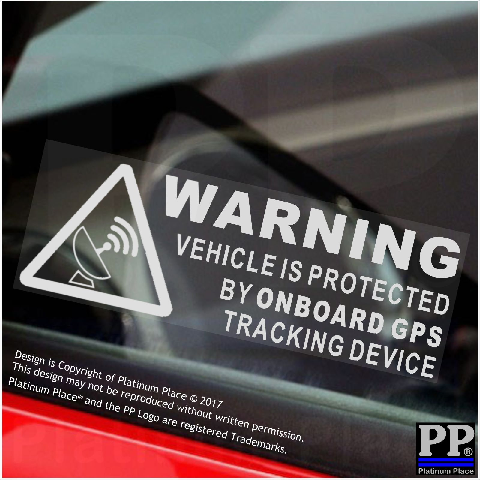 5 x warning on board gps tracking device stickers carvanboatbikesignsecure