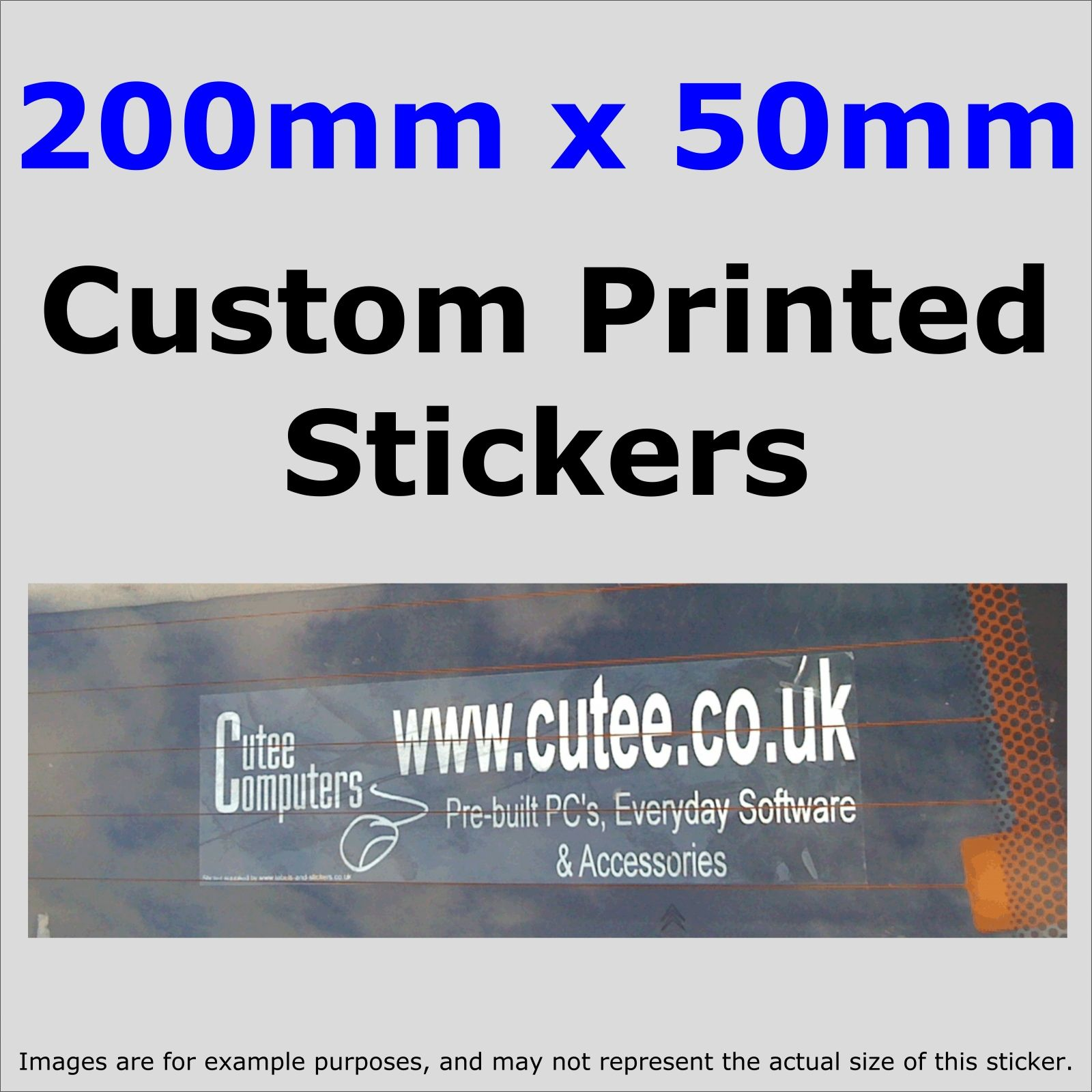 50mm x 200mm custom printed advertisingfun stickers windowsbumper cartaxivanbusinesswebsite