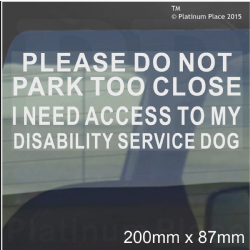 Please Do Not Park Too Close,I Need Access Childs Pushchair-Car Window Sticker