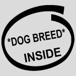 Dog Breed Inside Stickers