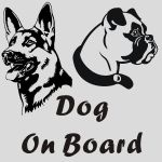 Fun Dog On Board Stickers