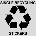 Single Recycling Stickers